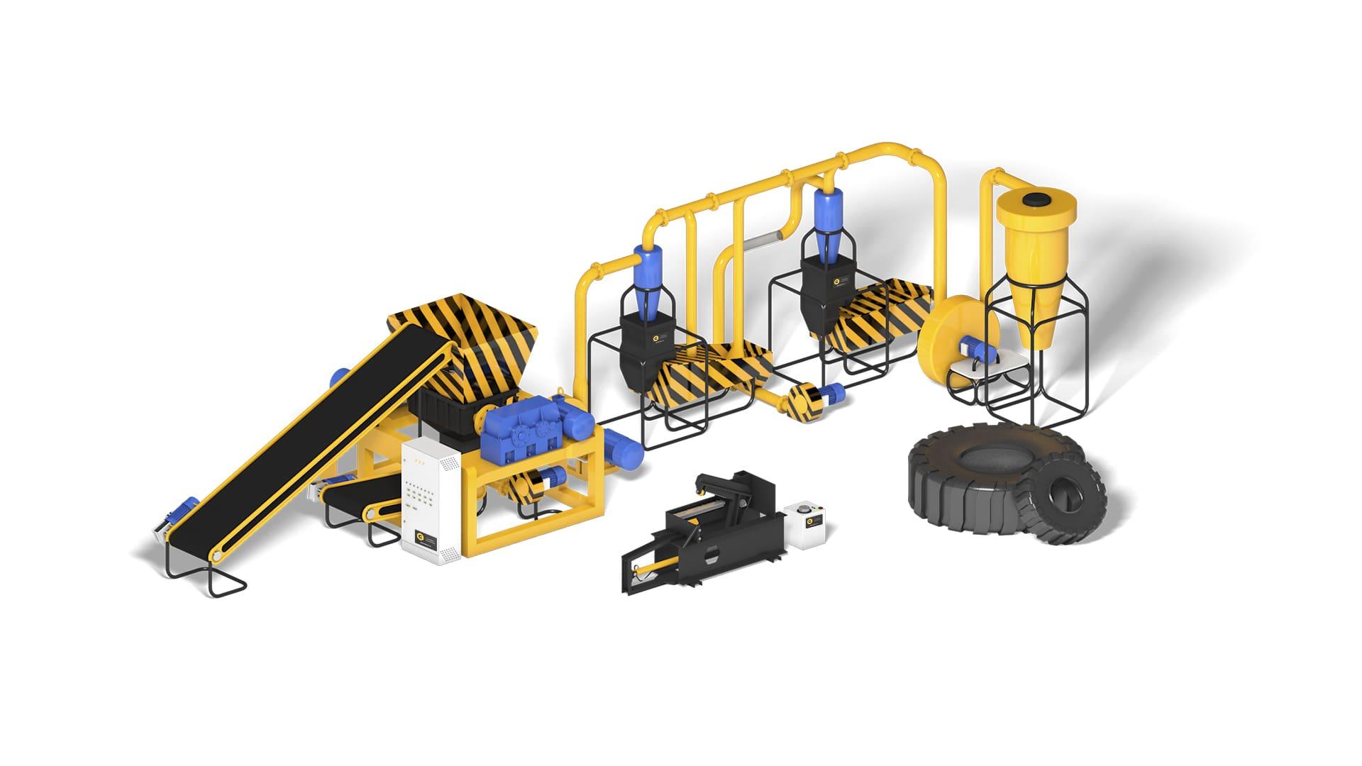 Бизнес-план оборудование для переработки шин Auto Tire Recycling 300