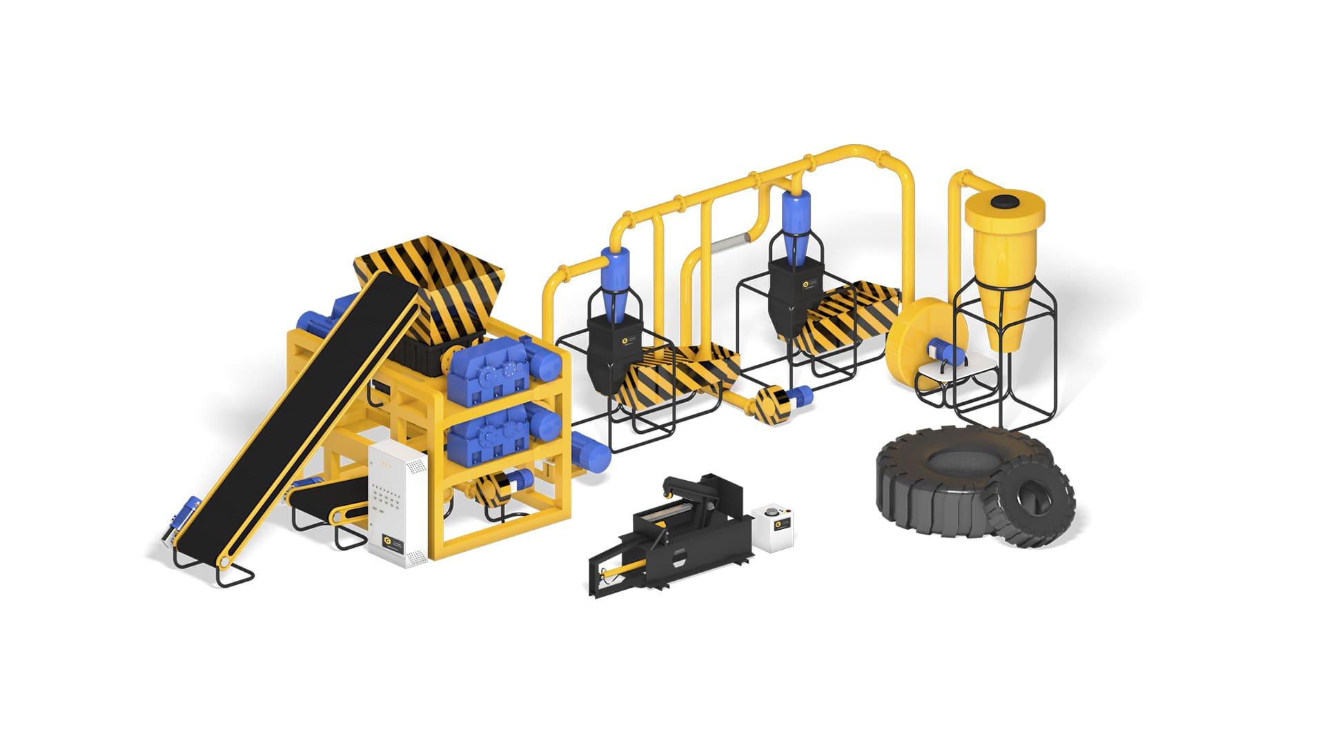 Бизнес-план оборудование для переработки шин Auto Tire Recycling 500
