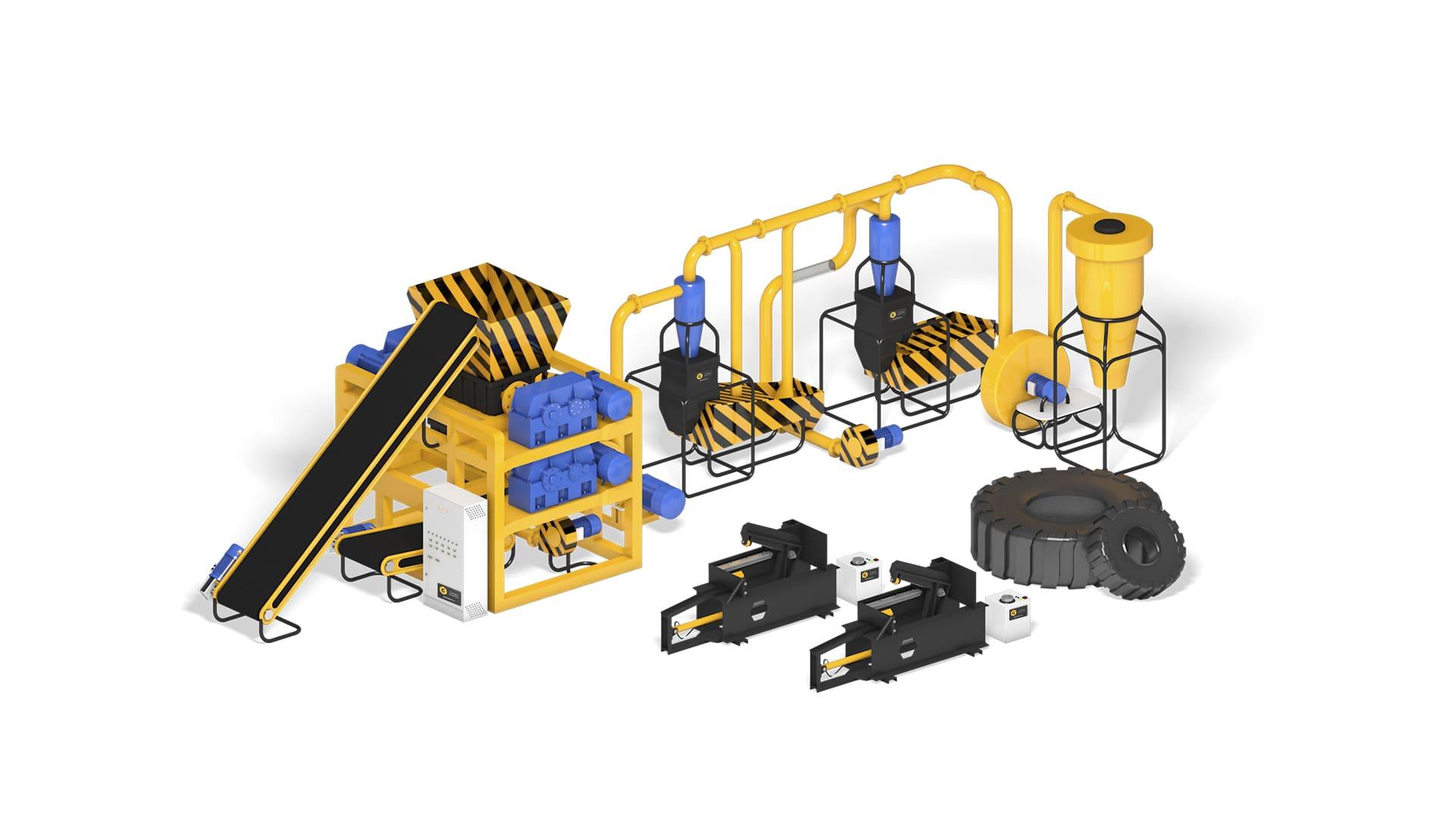 Бизнес-план оборудование для переработки шин Auto Tire Recycling 1000