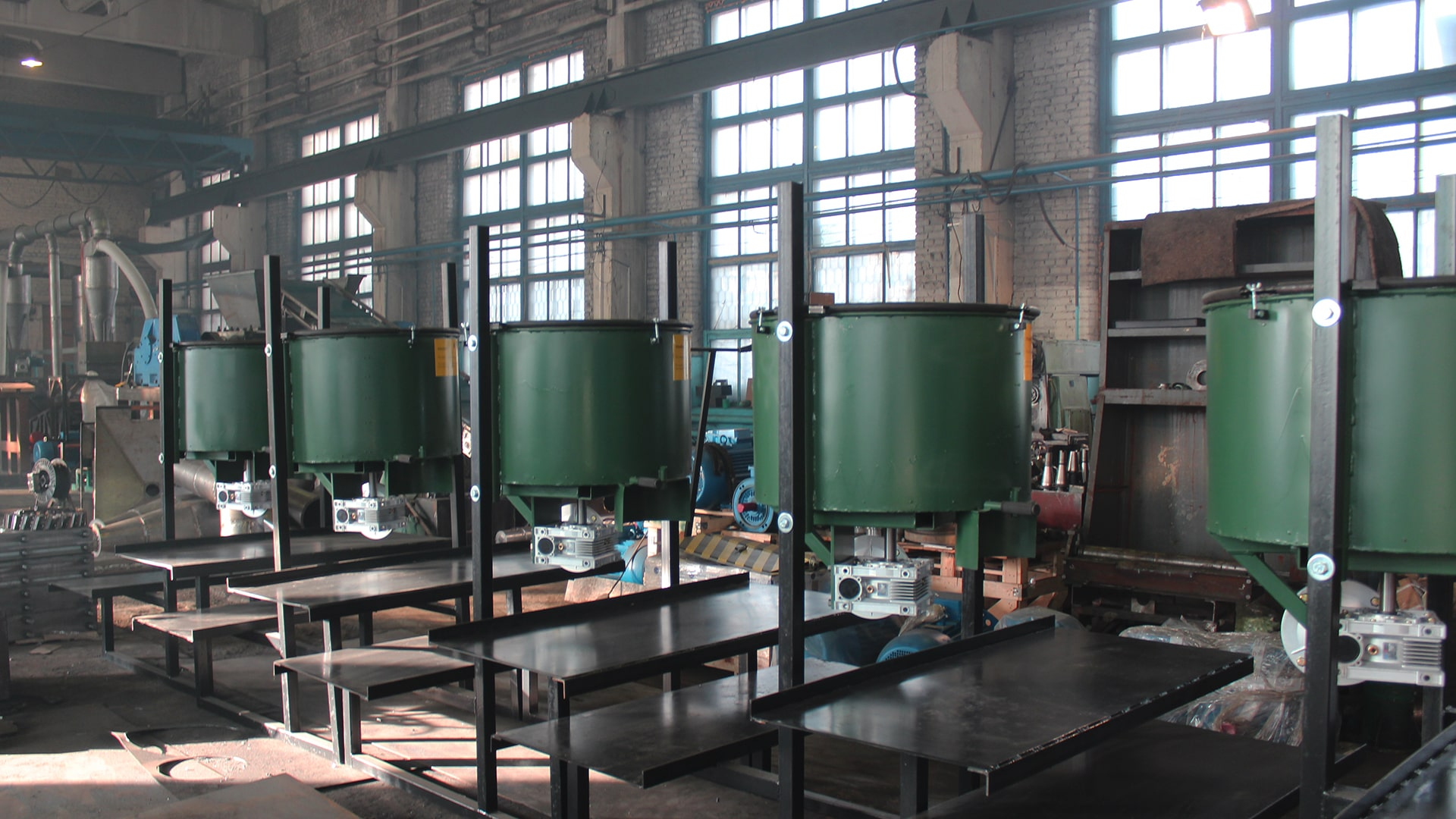 Equipment for the production of tiles